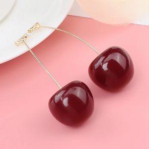 Realistic Cherry Earrings